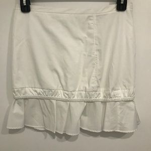 See by Chloé White Snow Cotton Paneled Skirt